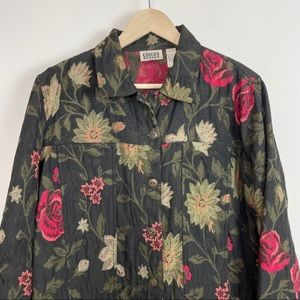Chicos small size 1 vintage floral jacket